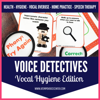 Voice Therapy Detectives- Vocal Hygiene Edition for Speech Therapy