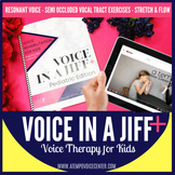 Voice Therapy For Kids: Voice in a Jiff Pediatric Speech Therapy