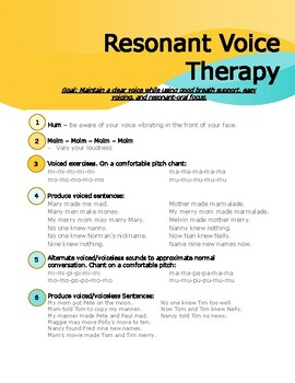 Voice Therapy Handouts