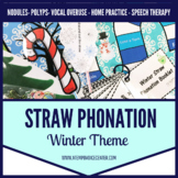 Voice Therapy Winter Straw Phonation for Speech Therapy