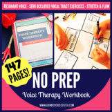 Voice Therapy Workbook (The Confident Clinician Series) No Prep Speech Therapy