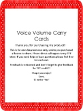 Voice Volume Carry Cards 0-5