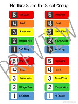 Voice Volume Scale - Classroom Management
