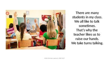 Voice Volume; noise in the classroom; social skill; expected behavior
