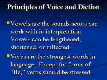 Voice and Diction Presentation