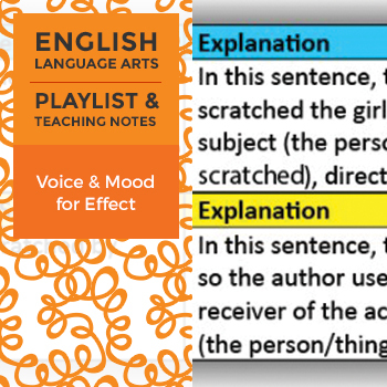 Voice and Mood for Effect - Playlist and Teaching Notes