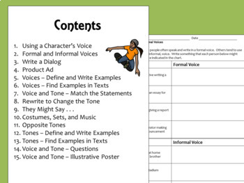 Voice and Tone Activities and Slide Presentation