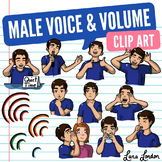 Voice and Volume Clip Art (Male) - Noise Control, Speech Therapy, Voice Therapy