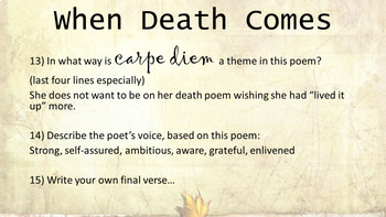 Voice in Poetry: Mary Oliver poems (with my audio) in PowerPoint & definitions