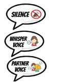 Voice level meters bubbles