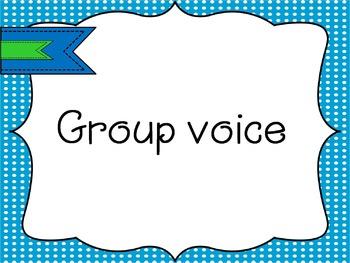 Voice level chart  --Freebie