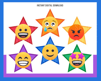 """Voice of VIPKid STARS - """"How Are You Today?""""- Printable Reward Props - Feelings"""