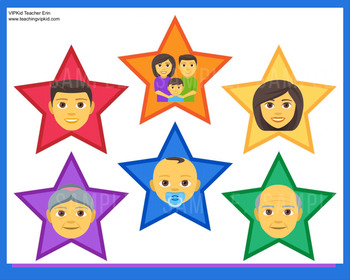 """Voice of VIPKid STARS - """"My Family"""" - Printable Reward or Props - Level 2 Trial"""