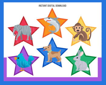 """Voice of VIPKid STARS - """"What Animal Do You Like""""- Printable Reward or Props"""