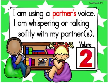 Voice/Volume/Noise Level Reminder Charts for Managing Classroom  (Large Stars)