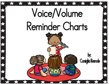 Voice/Volume/Noise Level Reminder Charts for Managing Classroom (Small Stars)