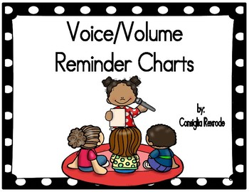 Voice/Volume/Noise Level Reminder Charts for Managing Clas