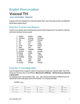 Voiced TH - English Pronunciation