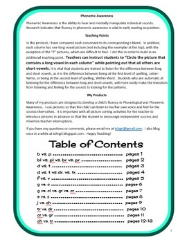Voiced and Unvoiced Cut and Paste Picture Sorts--Phonics / Phonemic Awareness Wo
