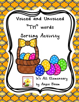 Voiced and Unvoiced TH words - Sorting Activity for Upper Elementary