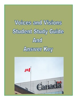 Voices and Visions Chapter One Study Guide