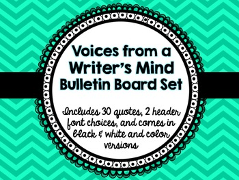 Voices from a Writer's Mind Bulletin Board Set