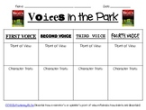 """""""Voices in the Park"""" Point of View Graphic Organizer"""