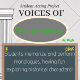 Voices of Ancient Greece Monologue Project Acting Activity