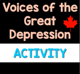 Voices of the Great Depression in Canada Interactive Gallery Walk