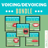 Voicing / Devoicing Minimal Pairs Set - Speech Sound Disor