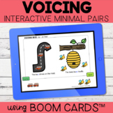 Voicing Interactive Minimal Pairs | Boom Cards™ | Distance