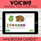 Voicing Minimal Pair Counters   Boom Cards™   Distance Learning