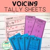 Voicing Minimal Pairs Tally Sheets