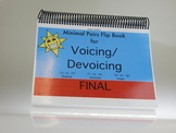 Voicing and/or Devoicing Final: Minimal Pair Flip Book Game