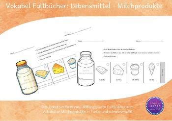Vokabel Faltbücher Milchprodukte - Vocabulary Mini-Books Dairy Products
