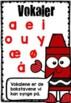 Vokal og konsonant plakat