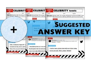 Vol. 2: Celebrity Tweets, Writing Mechanics & Conventions Practice, Print & Use