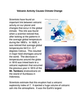 Volcanic Activity Causes Climate Change