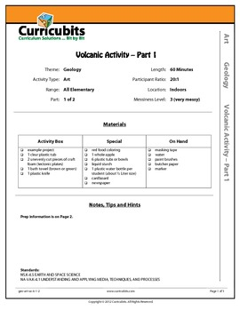 Volcanic Activity | Theme: Geology | Scripted Afterschool Activity