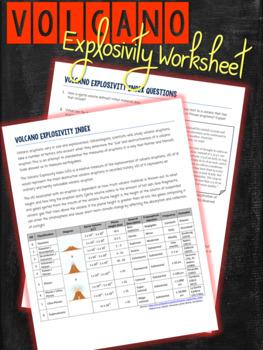 Volcanic Eruption Data Worksheet