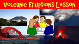 Volcanic Eruptions No Prep Lesson with Power Point, Worksheet and Vocabulary
