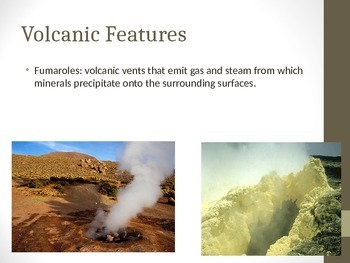 Volcanic Features, Lava and Products