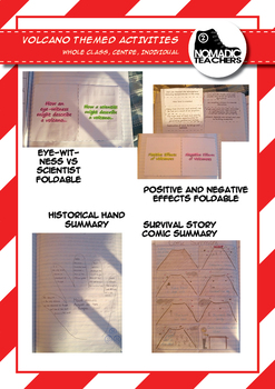 Volcano Activities and Foldables - 14 contract activities