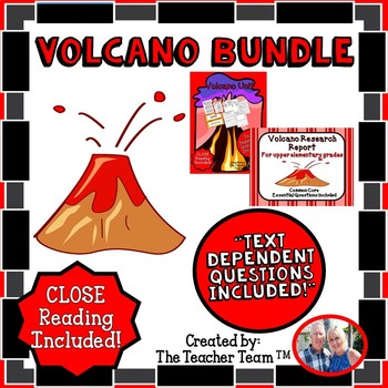 Volcano Bundle with Text Dependent Questions for CLOSE Reading