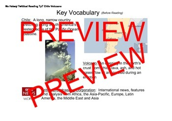Volcano NGSS MS-ESS3 - Critical Reading/Guided Highlighted (Editable)
