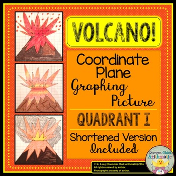Volcano! Coordinate Plane Graphing Picture - Quadrant I