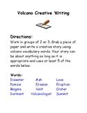 Volcano Creative Writing Activity