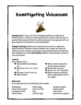 Volcano Design Brief:  NG Science and Engineering