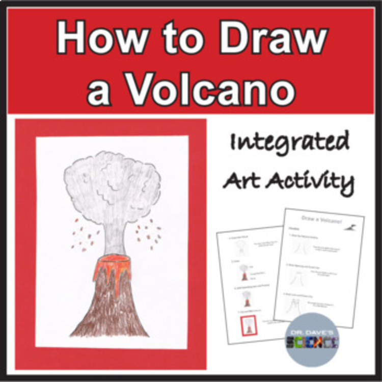 Volcano Drawing By Dr Dave S Science Teachers Pay Teachers