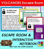 Volcanoes Escape Room & Plate Tectonics Interactive Notebook